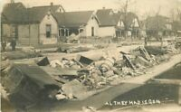 Aftermath C-1910 Disaster Storm RPPC Photo Postcard 11256
