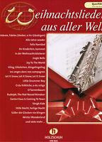 Querflöte Noten : Weihnachtslieder aus aller Welt   leicht - leichte Mittelstufe
