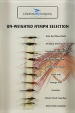 Trout Fishing Flies - Un-Weighted Nymph Selection Pack of 10