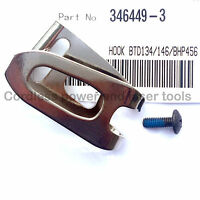 Makita BTD134 BTD146 Impact Driver Belt Hook Clip & Screw Part 346449-3+266622-8