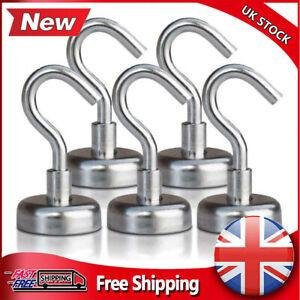 5/10X Heavy Duty Magnetic Hooks Hanger Hold Neodymium Strong Magnet Set UK