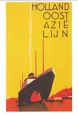 Kunstkarte/ Postcard: Jan Lavies - Cover Holland Oost Azie Lijn