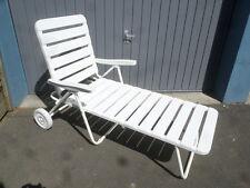 Rollliege Sonnenliege Weiß Relaxliege Gartenliege Liege Klappliege  H
