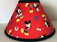 Disney Mickey Mouse Red Fabric Children's Lamp Shade