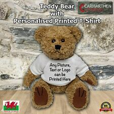 More details for teddy bear with personalised printed t-shirt perfect gift idea