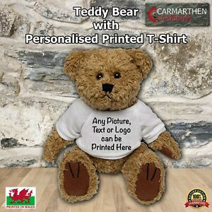 Teddy Bear With Personalised Printed T-Shirt Perfect Gift Idea