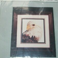 eagle head profile Counted Cross Stitch  Kit  needleart cross my heart usa