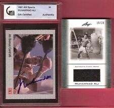 MUHAMMAD ALI CERTIFIED AUTOGRAPH AUTO GAI + WORN BOXING SWATCH RELIC #d15/20