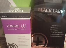 Le-Vel Thrive 10 day Women's 10 pks Vitamins & 10 Black Label DFT Patches *NEW*