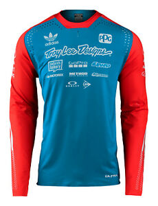 Troy Lee Designs 2020 Ultra Mens Jersey Adidas Team - Ocean / Flo Orange