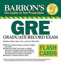 Barron's GRE Flash Cards by Sharon Weiner Green and Ira K. Wolf (2008, Cards,Fl…