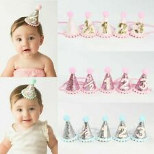 Newborns Toddlers Kids Circular Cone Birthday Hat 1st-3rd Birthday Party Crowns