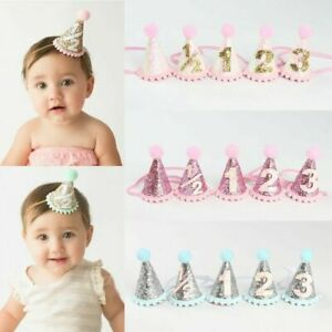Newborns Toddlers Kids Circular Cone Birthday Hat 1st Birthday Party Crowns