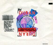 DURAN DURAN 1985 Trading Card set Wrapper!!! Topps