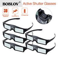 Boblov 5pcs Black 3D DLP-Link 144Hz Glasses For BenQ ACER Optoma NEC Projector