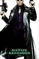 The MATRIX Reloaded Morpheus Double Sided Original 27x40 Movie Poster 2003