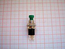 5 Miniatur - Taster  Drucktaster grün Schließer