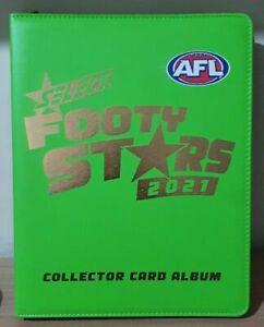 2021  AFL FOOTY STARS COMPLETE HOLOFOIL SET IN OFFICIAL ALBUM FOLDER