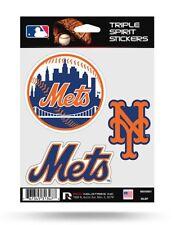 New York Mets Triple Spirit Sticker Sheet Die Cut Decal New Full Team Color Logo