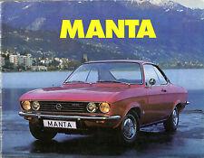 Opel Manta A 1972-73 UK Market Sales Brochure 1.6 1.9 De Luxe Rallye SR
