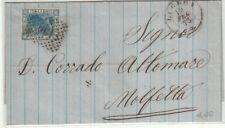 UU0057 - SINGOLO ISOLATO SU LETTERA NUMERALE A PUNTI LUCERA DOPPIO CERCHIO 1873