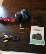 Canon EOS 60D DSLR Camera Body Only with Extra Battery and Neck Strap