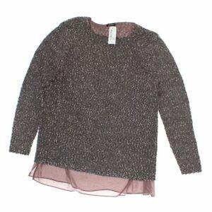 GERRY WEBER Women's Sweater size XL,  beige, brown,  cotton, silk, polyester