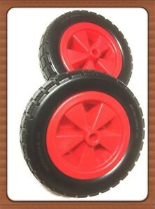 """2 pc x 4 .10 / 3.50-4 SOLID RUBBER WHEEL""""S Tyre WITH PLASTIC RIM(16 mm center )"""