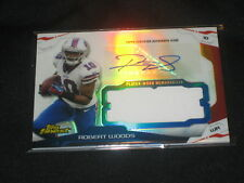 ROBERT WOODS BILLS CERTIFIED AUTHENTIC AUTOGRAPHED SIGNED FOOTBALL JERSEY CARD