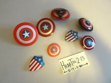 HUGE LOT OF 8 marvel legends captain america shield parts accessories Figure -04