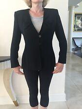 Giorgio Armani Le Collezioni Black Women's Blazer 3 Button  Size It 40 Us 6