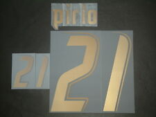 PIRLO NOME+NUMERO UFFICIALE ITALY HOME NAMESET 2006-2007 PLAYERS SIZE