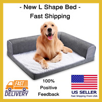 L Shape Bed For Dog Pet Waterproof Washable Soft Sofa Large New Free Shipping