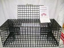 E-Z Catch Green & White Crabs Bait Catching Trap PVC Coated Made in U.S.A. P-600