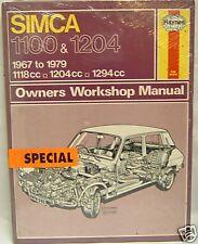 Manuale Haynes SIMCA 1100 & designate 0088