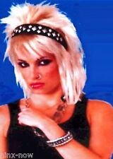 80's Punk Studded Headband and Bangle set Black and silver fancy dress accessory