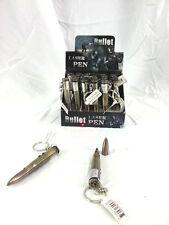 24 Pack Bullet Keychain Laser Pen Led Light