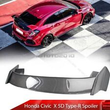 Carbon + Unpainted For Honda Civic X Hatchback JDM Type-R Turbo Trunk Spoiler 16