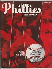 1965 Philadelphia Phillies Yearbook + Official Scorecard Callison Allen Bunning