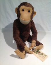 "SCHUCO MECHANICAL ""TRICKY"" YES NO MONKEY 19 1/2"" LONG, GERMAN, 1950's or earlier"