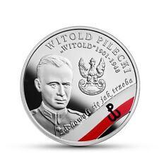 Munze 10 Zloty Witold Pilecki 2017 Silber Polen Proof.in einer Schachtel