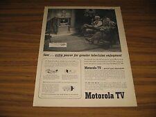 1951 Print Ad Motorola 17K10 17 Inch Screen TV Senior Couple Watch Television