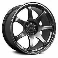 "4 X 17"" X 9.25 XXR 551 CHROMIUM BLACK WHEELS 5X100 5X114.3 ET +36 GENUINE XXR551"