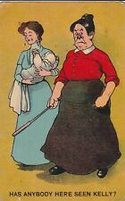 a comic humour funny old postcard antique england has anybody seen kelly