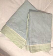 Kate Spade Queen Pillow Sham Lot 2 Blue Green
