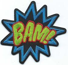 Retro Bam! Batman Patch Iron-on Art Good Luck Charm Adam West Robin