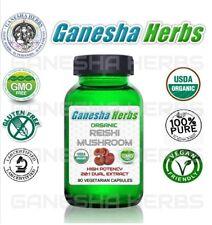 Organique Certifié Reishi Champignon Haut puissance 20 : 1 Extrait 90 Capsules
