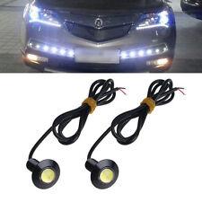 1 Pair Ultra Thin 23mm 12V Car LED DRL Daytime Running Light Eagle Eye Lamp Hot