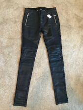 15a67b9b Balmain Wax Biker Jeans in Black [Size 30] denim trousers skinny fit