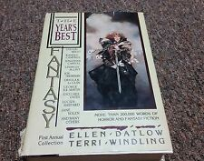FIRST ANNUAL COLLECTION OF FANTASY, THE YEAR'S BEST, 1986
